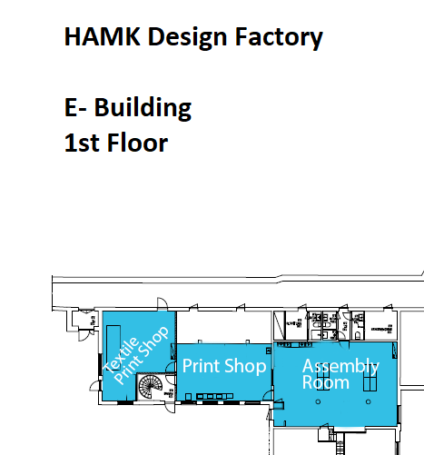 HAMK Design Factory 1st floor