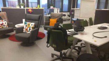 LeaD-tiimin toimistotilana avokonttori