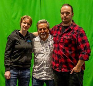 Last pose with Charles Camarda and Toni Lavonen.