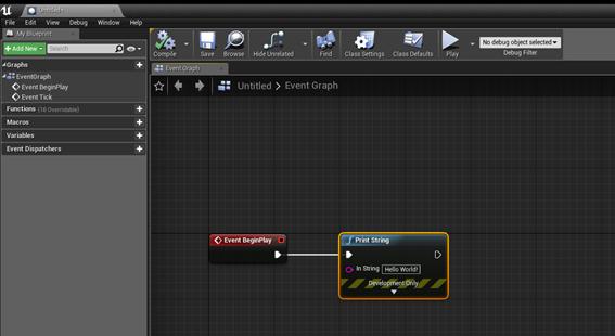 HelloWorld ohjelmointi Unreal Engine 4 -pelimoottorilla