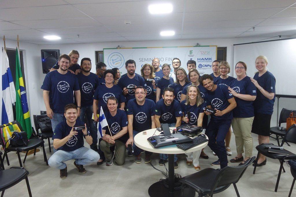 Photo 5. HAMK graduates celebrating in Maceió with teacher educators.