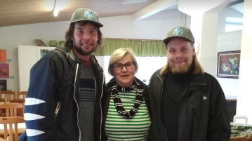 Maksim Maksimov, Soile Viljakka ja Priit Kaasik Lepaan viinitilalla