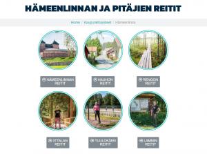 Linkkejä Hämeenlinnan ja pitäjien reiteille Geegon verkkosivuilla
