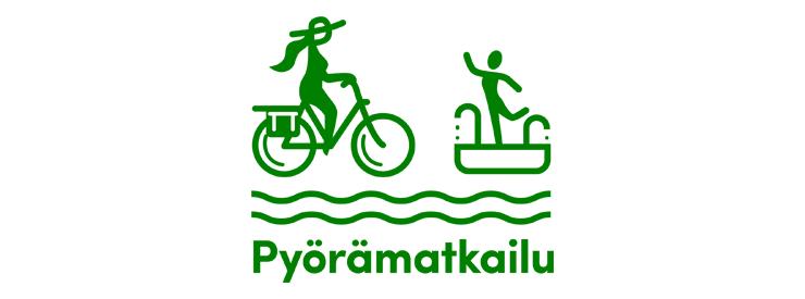 Pyöräilijä ja uimari