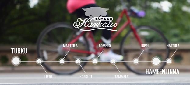 Kuvakaappaus Hämeen paikkajanasta Hämeen Härkätien verkkosivuilla