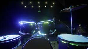 Monitoimisali visualisoituna konserttikäyttöön UE4-pelimoottorilla