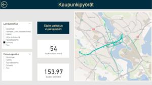 Kuva laatikoista, joissa tekstiä ja numeroita sekä kartta Hämeenlinnasta