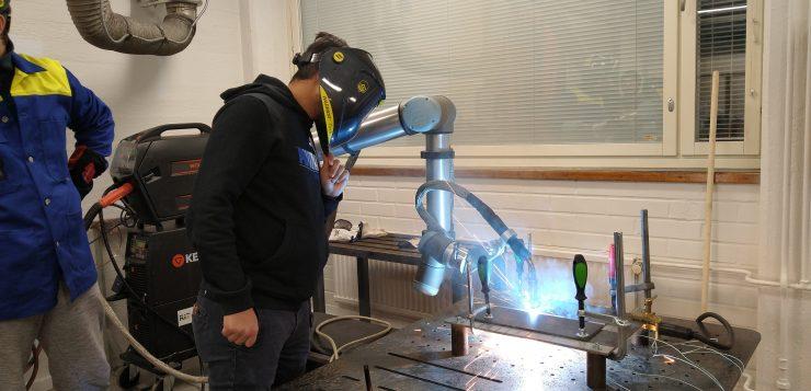 Welding robot in action