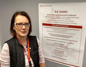 Kanta-Hämeen keskussairaalan potilasturvallisuuskoordinaattori Anne Kallava