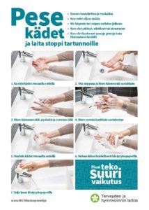 kuvallinen ohje käsienpesuun