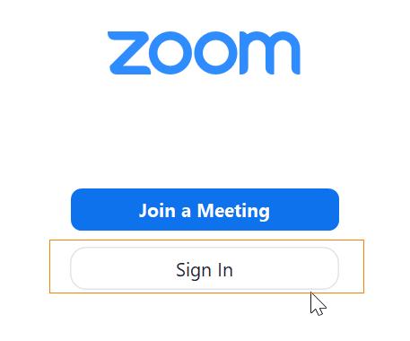 zoom app sign in