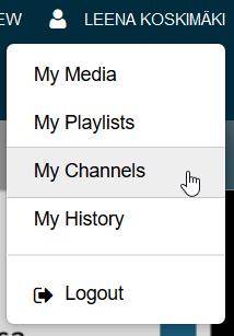 kaltura my channels