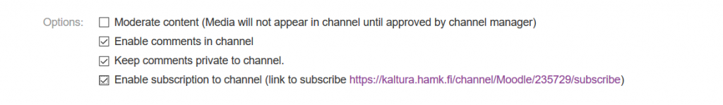 kaltura channel subscribe