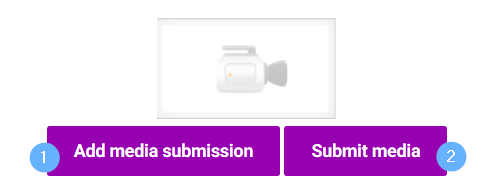 Kaltura media assignment media subission button on left, submit button on right