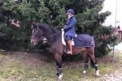 Mia hevosen selässä