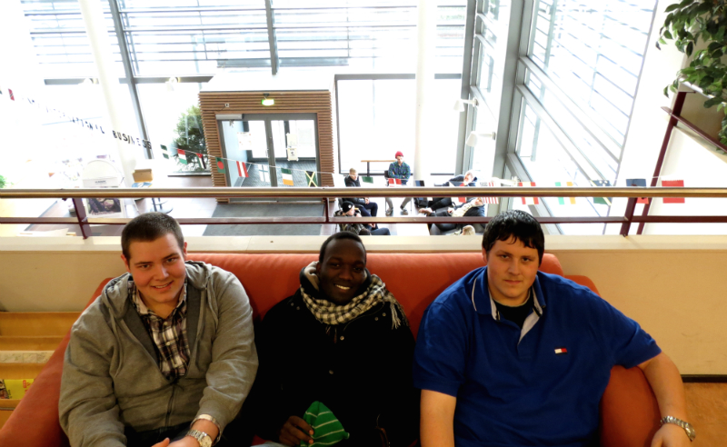Ben, Mike & Alex at Valkeakoski campus