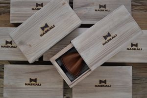 Wooden boxes with a bow