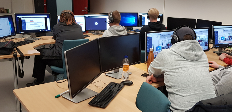 ICT students in a computer class room